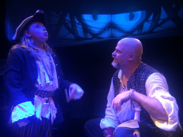 KYLA R. ALPHIER (Tom Morgan) and JOHN MUNN (Long John Silver)  Photo